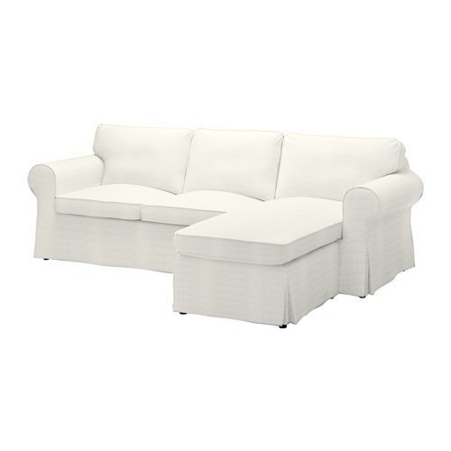 Ektorp 2er Sofa mit Recamiere Bezug