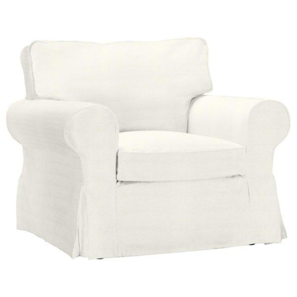 IKEA Ektorp Sessel Bezug Stoff Bombay [Weiss]