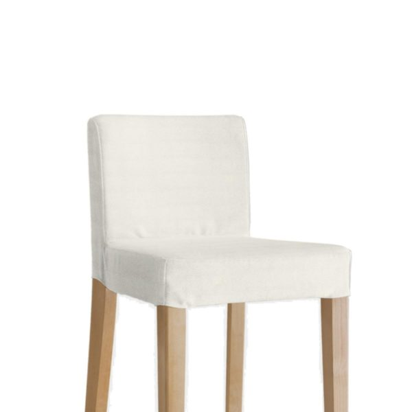 IKEA Henriksdal Barhocker Bezug Stoff Bombay [Weiss]