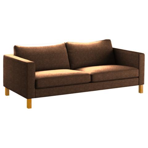 IKEA Karlstad 3er-Sofa Bezug aus Kunstleder