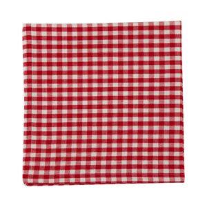 Serviette CAMPOS Farbe: Rot-Weiss | Größe: 45×45
