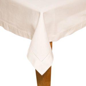Tischdecke DINNER Farbe: Weiss | Größe: 100×100