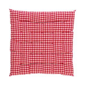 Stuhlkissen CAMPOS gepolstert Farbe: Rot-Weiss | Größe: 40×40