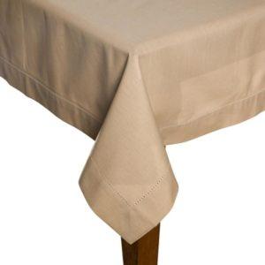 Tischdecke DINNER Farbe: Taupe | Größe: 100×100