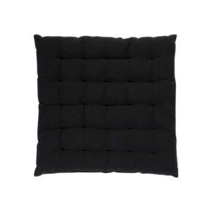 Stuhlkissen SOLO, gepolstert Farbe: Schwarz | Größe: 40×40