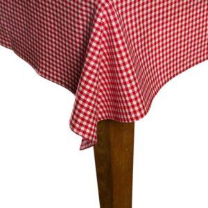 Tischdecke CAMPOS Farbe: Rot-Weiss   Größe: 100×100