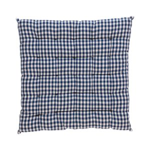 Stuhlkissen CAMPOS gepolstert Farbe: Delfterblau-Weiss | Größe: 40×40