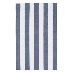 Stofflaeufer VANNES Farbe: Weiss-Delfterblau | Größe: 45×150