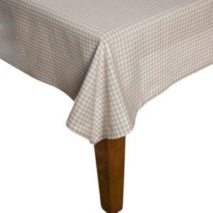 Tischdecke CAMPOS Farbe: Steel-Weiss   Größe: 100×100