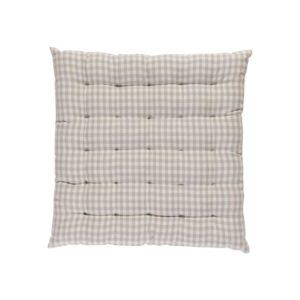 Stuhlkissen CAMPOS Farbe: Steel-Weiss | Größe: 40×40