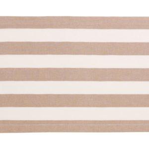 Stoffläufer VANNES Farbe: Taupe-Weiss | Größe: 45×150
