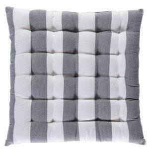 Stuhlkissen VANNES Farbe: Aluminium-Weiss | Größe: 40×40
