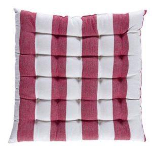 Stuhlkissen VANNES Farbe: Rot-Weiss | Größe: 40×40